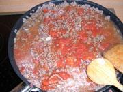faire revenir la viande pour la moussaka